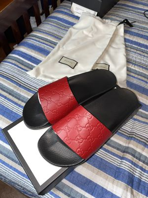 Gucci slides size 8 for men or 10 in women for Sale in Kissimmee, FL
