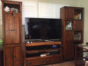 Entertainment center, all wood call for details for Sale in Bellflower, CA