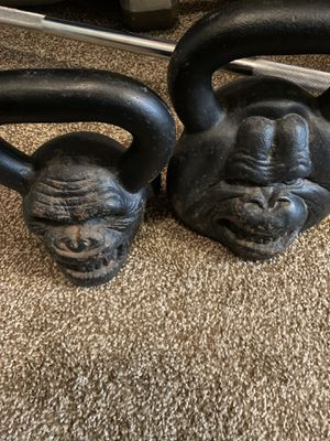 Set of three gorilla kettlebells for Sale in WHT SETTLEMT, TX