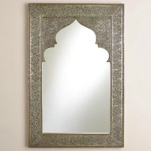 Moroccan /Indian embossed silver mirror for Sale in Seattle, WA