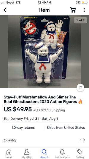Free local delivery Stay-Puff Marshmallow 2020 Action Figure for Sale in Bell Gardens, CA