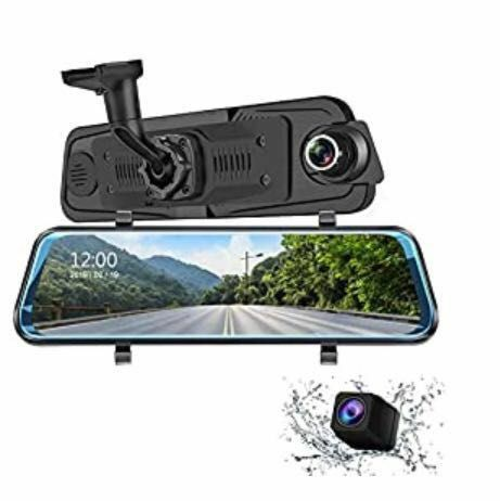 Auto Camera Dash cam 9.66 Inch Full HD Front 1080P and Rear 1080P Media Screen with Bracket, 170°Wide-Angle Lens and Rearcam, Parking Monitor