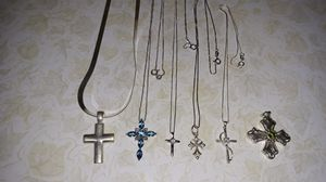 5 .925 silver chains & cross 1) .925 silver cross for Sale in Oceanside, CA