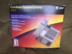 VINTAGE ATT 5500 CORDLESS SPEAKERPHONE / ORIGINAL BOX for Sale in Wichita, KS