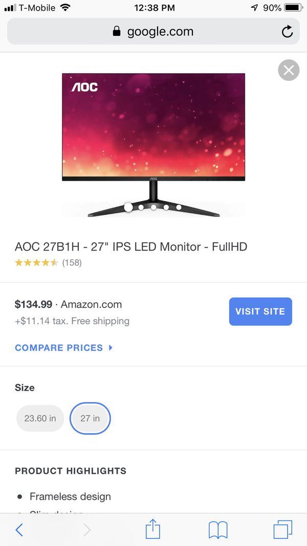 AOC 27in monitor