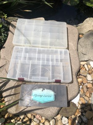 Plastic Fishing Lure Storage Boxes (3) for Sale in West Mifflin, PA