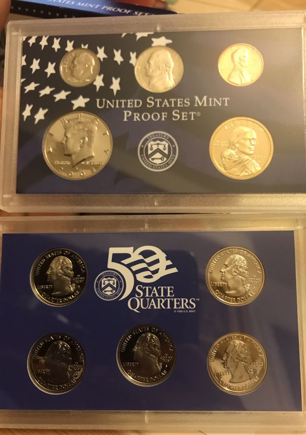 United states mint proof set. Years available 1999-2002