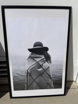 Girl with hat framed poster for Sale in Redondo Beach,  CA