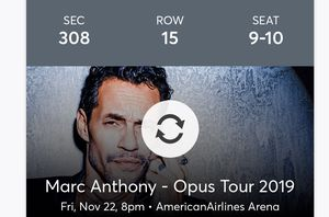 Marc Anthony 2 tickets for Sale in Hialeah, FL