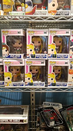 Sailor Moon sailor Jupiter sailor moon with luna sailor Venus funko pop for Sale in Temecula,  CA