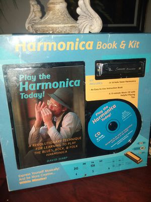 Harmonica CD book & kit to learn for Sale in Port Charlotte, FL
