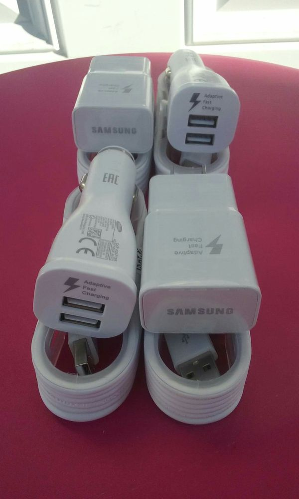 2 Samsung Fast Combos/2 Samsung Fast Chargers and 2 Samsung Fast Car Chargers Brand New