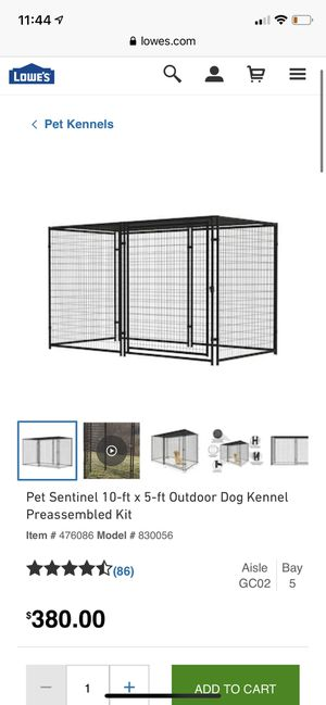 Outdoor pet kennel for Sale in Rancho Cucamonga, CA