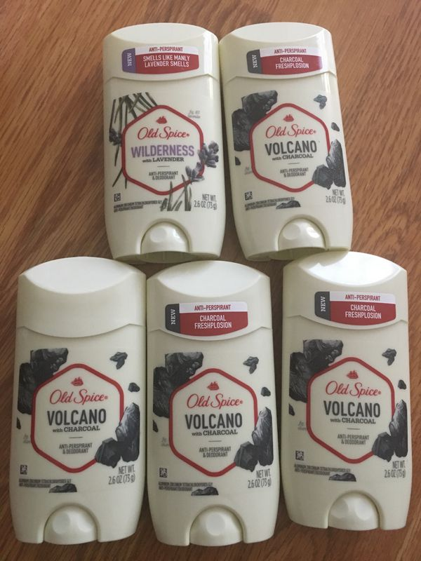 4 OLD SPICE VOLCANO 1 LAVENDER WITH CHARCOAL
