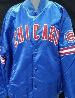 Chicago Cubs Throwback Satin Starter Jacket XXLarge $120 🔥 for Sale in Alexandria,  VA