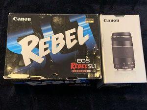 Canon EOS Rebel SL1 EOS 100D 18.0MP Digital SLR DSLR Camera 18-55MM & 75-300MM LENS for Sale in Doral, FL