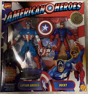 1998 Toy Biz Marvel American Heroes Figure Box Set, Captain America & Bucky MIB for Sale in Santa Ana, CA