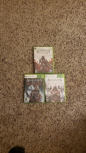 3 Assassins creed games for Xbox 360 for Sale in Sunnyvale, CA