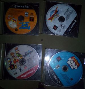 4 SONY PLAYSTATION 2 (PS2) ORIGINAL GAME DISCS for Sale in Dallas, TX