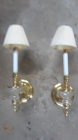 Two solid brass candle light light fixtures for Sale in Gibsonia, PA