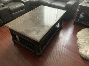 Granite coffee table and two end tables for Sale in North Las Vegas, NV