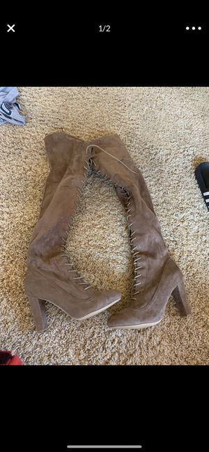 THIGH HIGH BOOTS SIZE 10 FASHION NOVA CAMEL BEIGE NEW NEVER USED for Sale in Chula Vista, CA