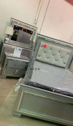 Black friday sale 🎉,Lillian Silver LED Panel Bedroom Set for Sale in Laurel, MD