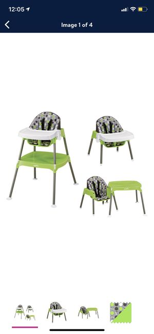 Evenflo 4-in-1 Eat & Grow Convertible High Chair, Dottie Lime for Sale in Denver, CO
