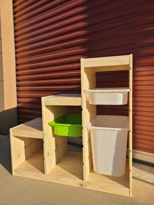 Ikea kids toy chest storage books trofast for Sale in Alta Loma, CA
