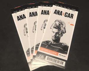 Anaheim Ducks Tickets (10/18) only 100$ for 4 tickets! for Sale in Fontana, CA