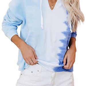 (Size small)Women's Casual Tie Dye Print Hoodie Long Sleeve Loose Pullover Sweatshirt Color Block Tunic Tops for Sale in Orlando, FL
