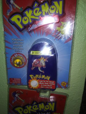 Pokemon collectable marble pouch for Sale in San Antonio, TX