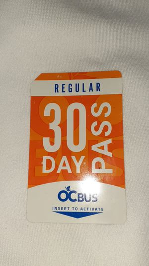 30 Day Bus Pass for Sale in Santa Ana, CA