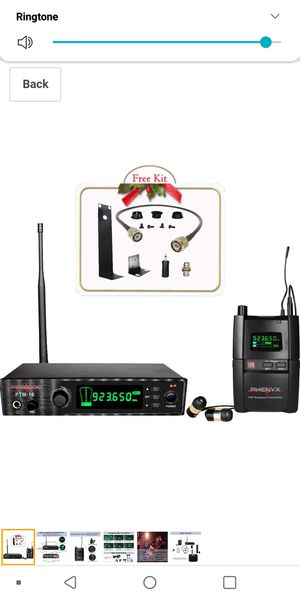 Phenyx Pro UHF Stereo Wireless in Ear Audio Monitor System, Selectable Frequency 900MHz Band for Sale in Apple Valley, CA