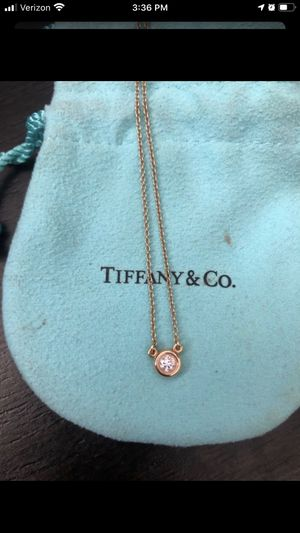 Tiffany&co diamond pendant necklace yellow gold for Sale in La Mirada, CA