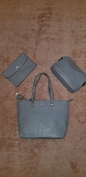 3 PC Handbag Set- Lt Bue for Sale in Beaumont, TX