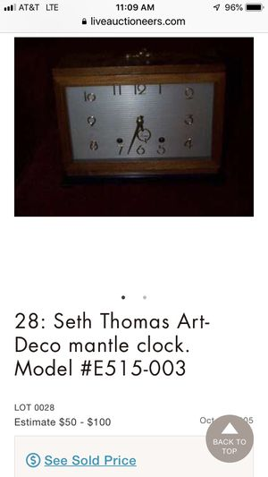ANTIQUE SETH THOMAS ART DECO MANTLE CLOCK! VERY COLLECTIBLE! PRICED TO SELL! for Sale in Brooklyn, NY