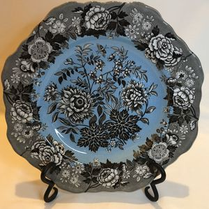 Vintage Spode Archive Collection Black and Blue 'Jasmine' Plate for Sale in Fair Oaks, CA