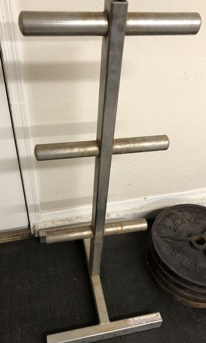 Olympic plate weight tree for Sale in Chandler, AZ
