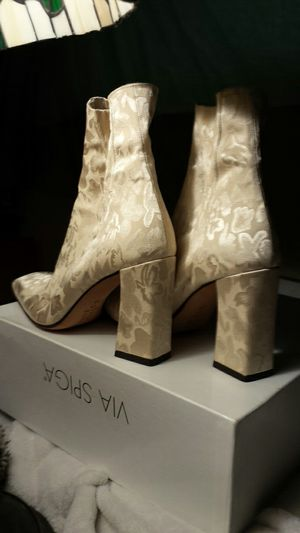VIA SPIGA Pearl White Clothe Heels for Sale in Fairfax, VA