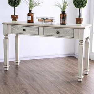 Rustic white console table for Sale in Las Vegas, NV