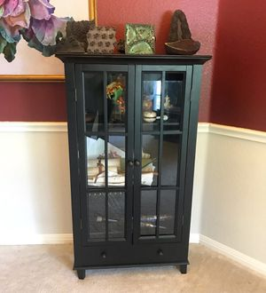 Black TV stand and media cabinet for Sale in Cedar Park, TX