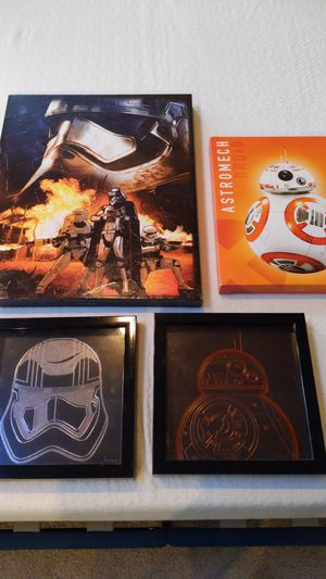Kids room wall decor star wars for Sale in Woodinville, WA