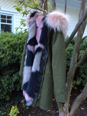 Mr & Mrs Italy Camo Fur Lined Parka for Sale in New Canaan, CT
