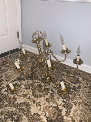 Livex Williamsburgh 10 Light Polished Brass Chandelier Ceiling Light for Sale in Haymarket, VA
