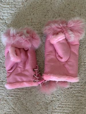 Fun fur fingerless gloves mittens for Sale for sale  Monroe, NC