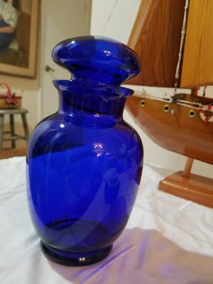 Beautiful cobalt blue canister for Sale in Henderson, NV