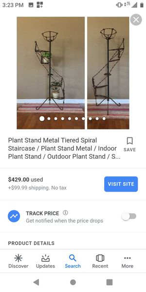 Spiral Metal Plant Stand (Make me an offer) for Sale in Industry, CA