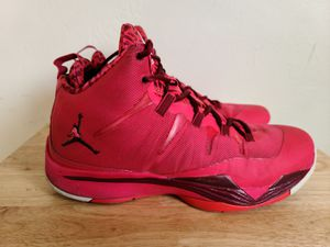 Nike Air Jordan Super Fly 2 Fusion Red Sneakers 599945-660 Men's Size 12 for Sale in San Diego, CA