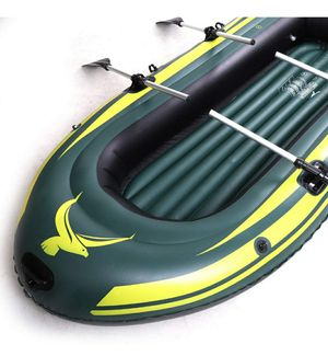 Brand New in Box Yocalo Inflatable 2 Person Boat with aluminum oars, cushion, rope, repair patch, and hand pump for Sale in West Covina, CA
